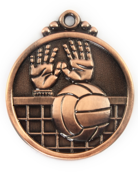 Медаль волейбол бронза