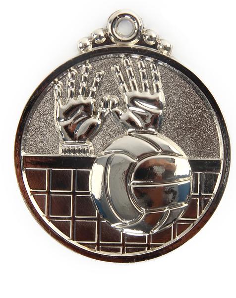 Медаль волейбол серебро 50мм