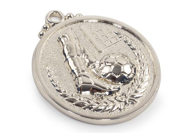 Медаль футбол серебро 50 мм