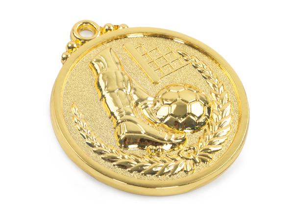 Медаль футбол золото 50 мм