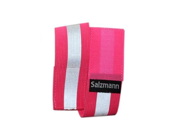 Светоотражатель Salzmann эластичный розовый