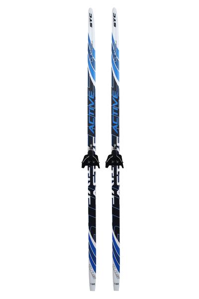 Лыжи беговые с креплениями STC Wax NN75 мм (цвет в ассортименте)